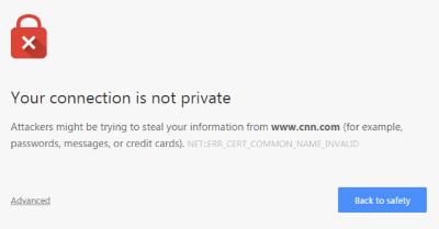 insecure site error